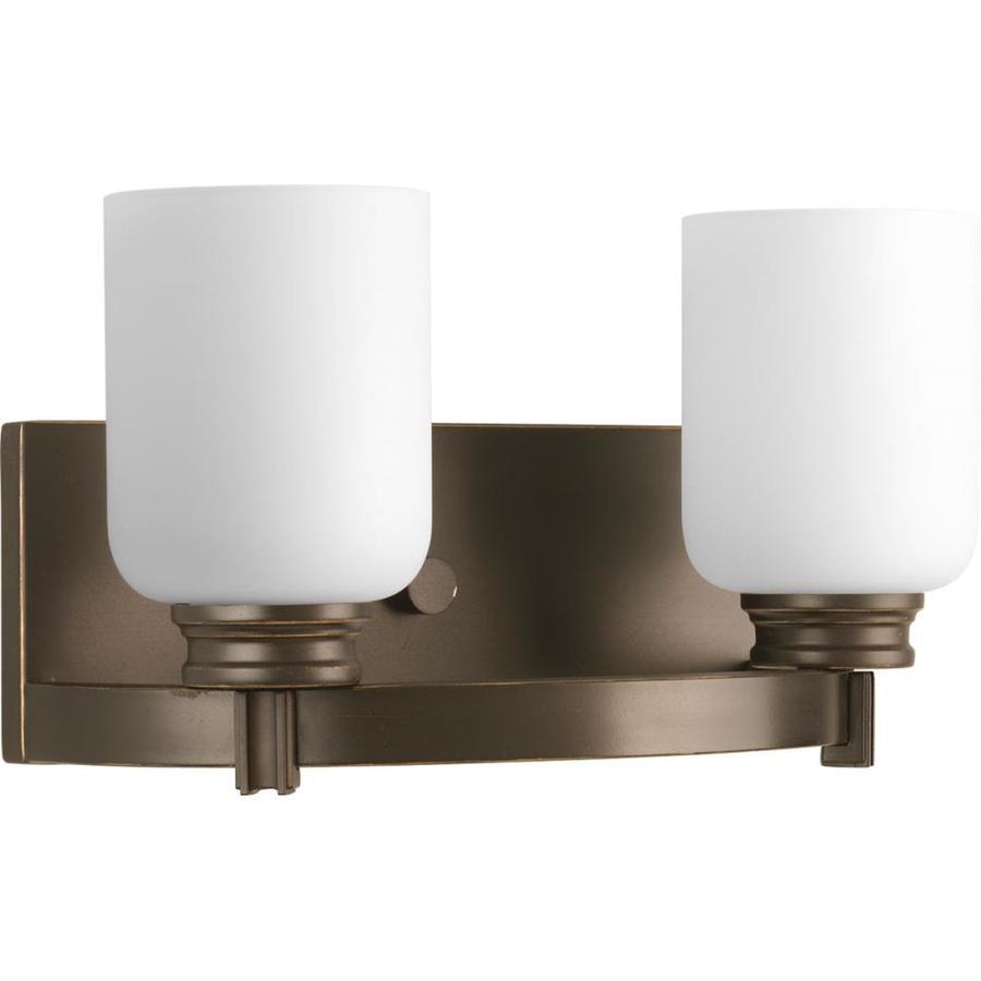 Progress Lighting Orbitz 2-Light 7.25-in Antique bronze Cylinder Vanity Light