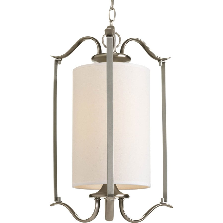 Progress Lighting Inspire 14.75-in 1-Light Brushed Nickel Shaded Chandelier
