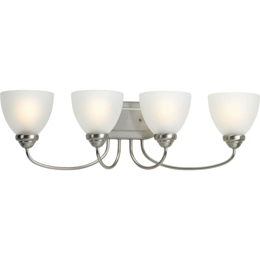 Progress Lighting Heart 4-Light 8.5-in Brushed Nickel Bell Vanity Light