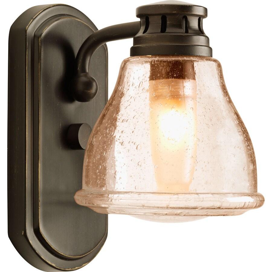 Progress Lighting Academy 1-Light 8-in Antique Bronze Schoolhouse Vanity Light
