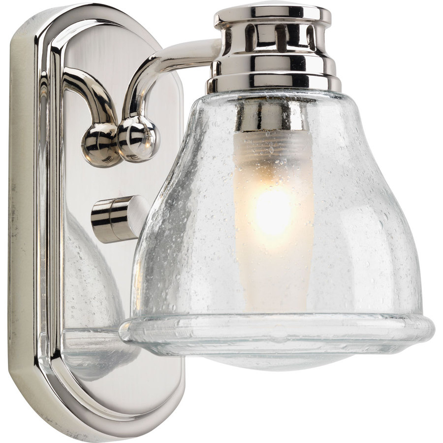 Shop progress lighting academy polished chrome bathroom - Chrome bathroom lighting fixtures ...