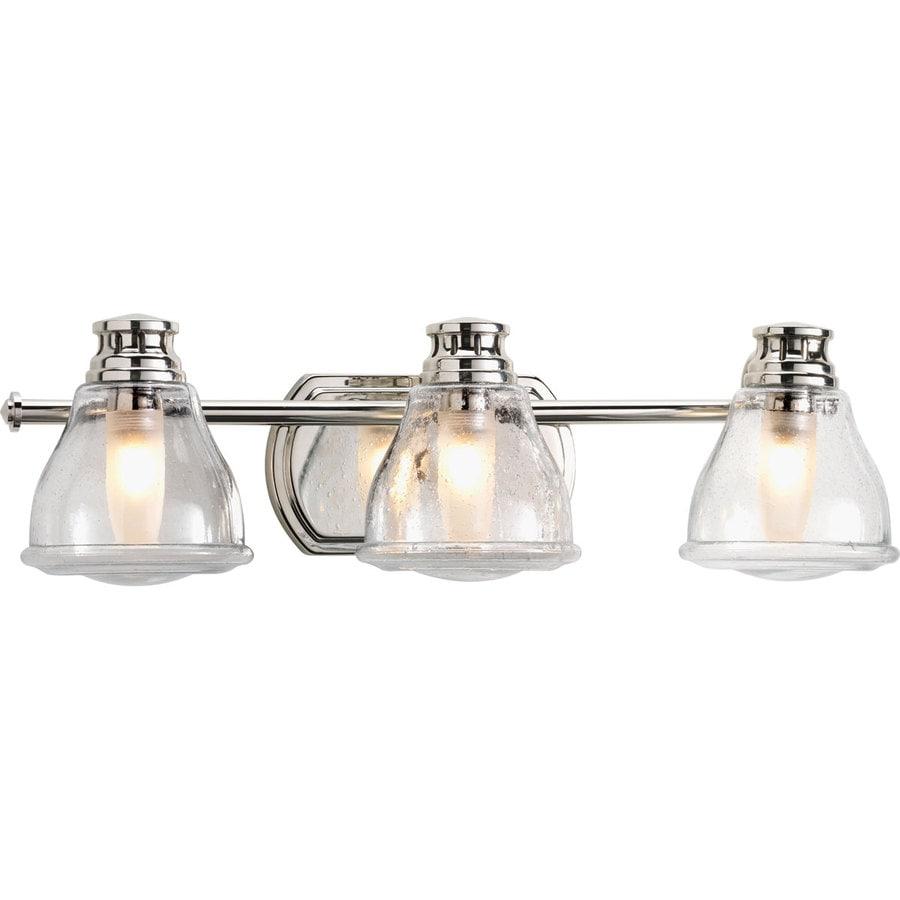 Progress Lighting Academy 3-Light 8-in Polished chrome Schoolhouse Vanity Light