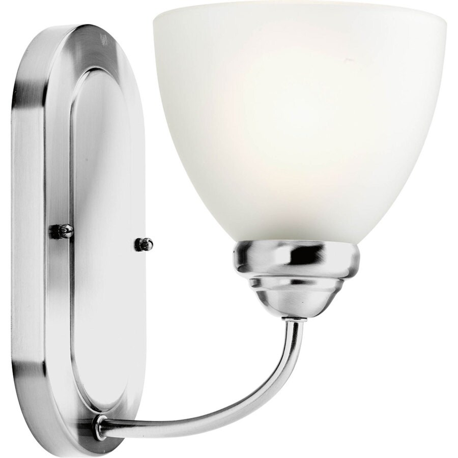 Progress Lighting Heart 1-Light 9-in Polished Chrome Bell Vanity Light