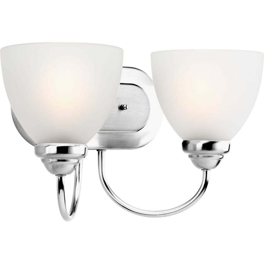 Progress Lighting Heart 2-Light 8.375-in Polished Chrome Bell Vanity Light