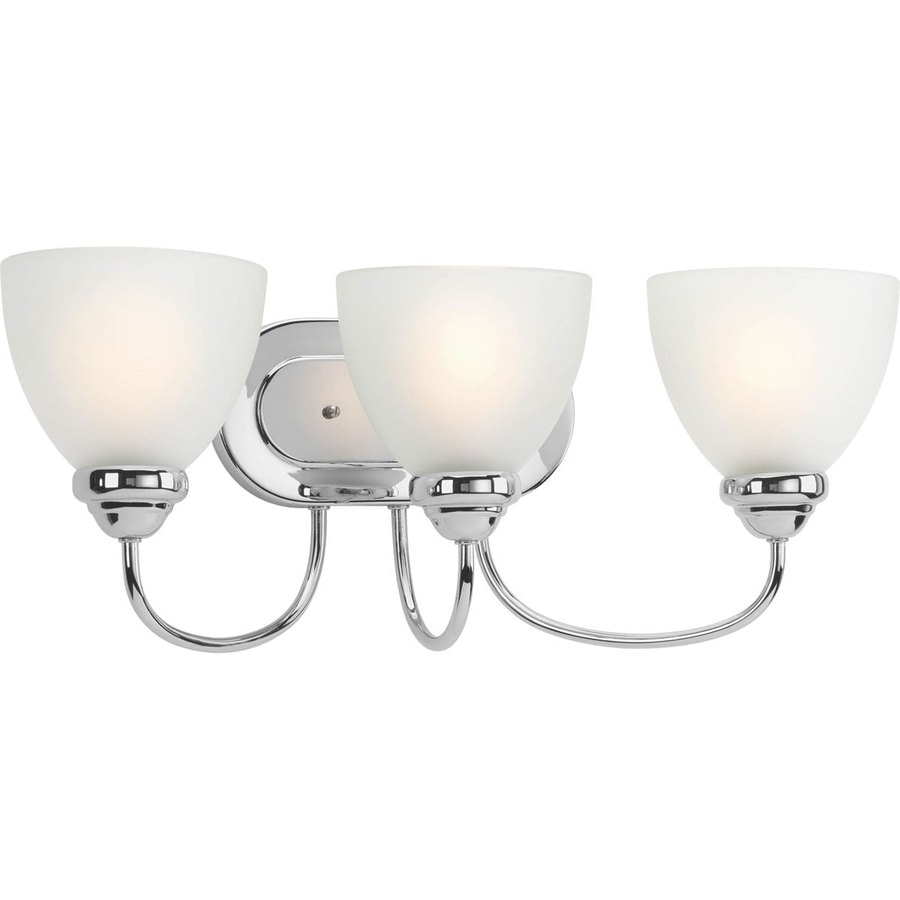 Progress Lighting Heart 3-Light 8.5-in Polished Chrome Bell Vanity Light
