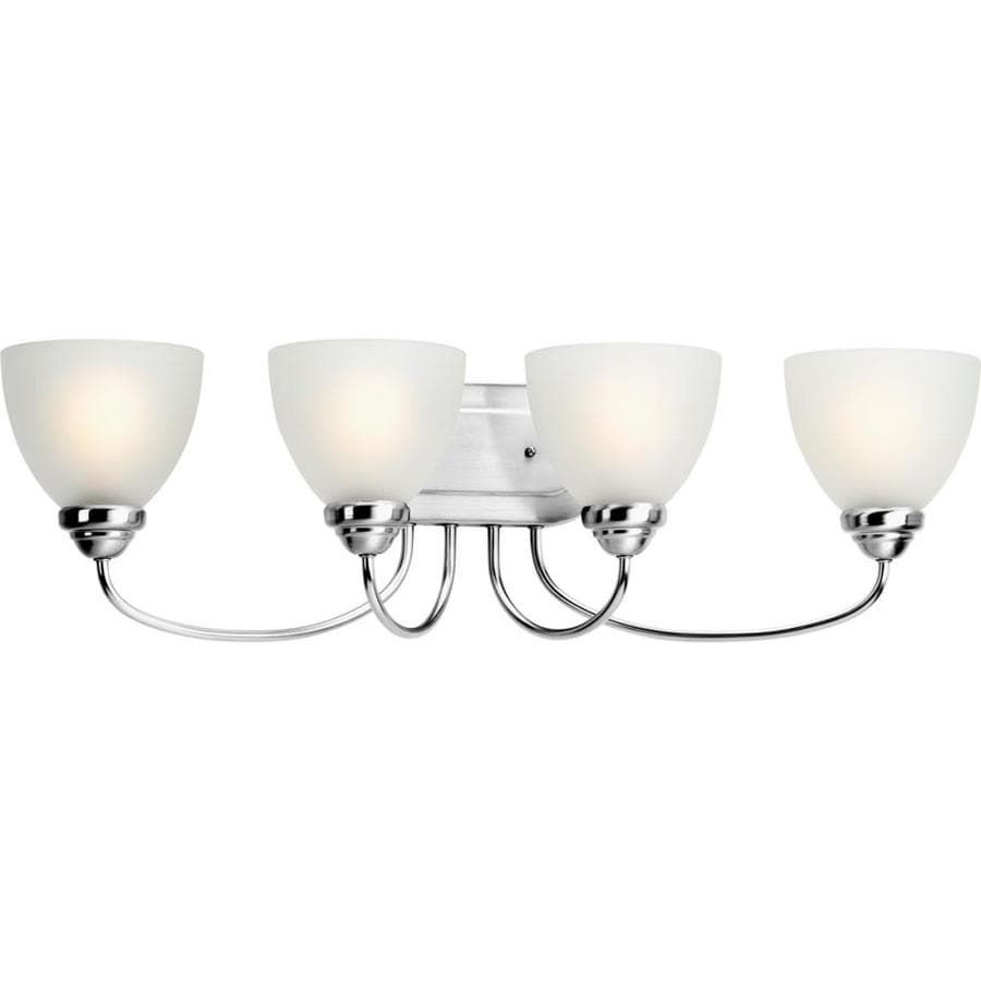 Progress Lighting Heart 4-Light 8.5-in Polished chrome Bell Vanity Light