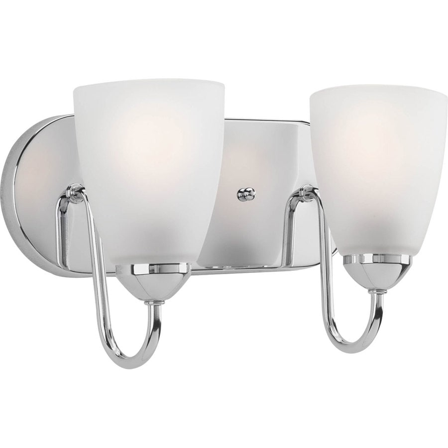 Shop Progress Lighting Gather 2-Light 7.5-in Polished Chrome Cone Vanity Light at Lowes.com