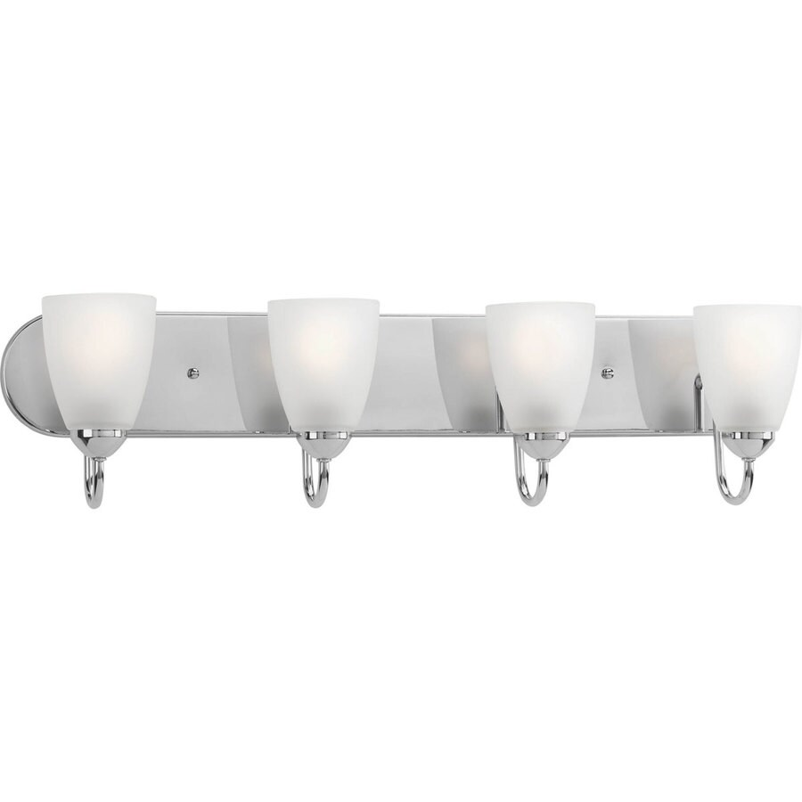 Progress Lighting Gather 4-Light 7.5-in Polished Chrome Cone Vanity Light