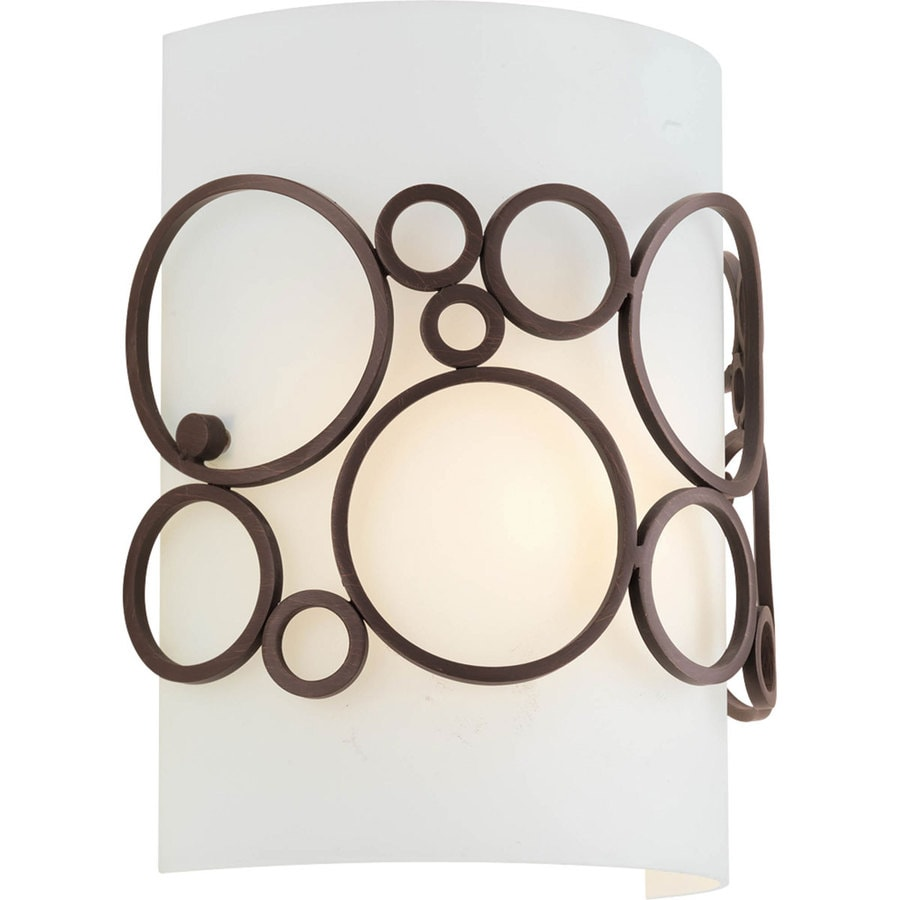 Progress Lighting Bingo 7.75-in W 1-Light Venetian Bronze Pocket Wall Sconce