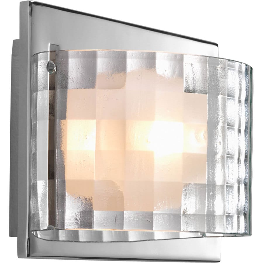 Progress Lighting Cliche 1-Light 5.5-in Polished chrome Rectangle Vanity Light