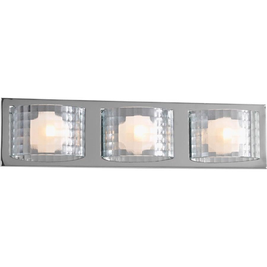 Progress Lighting Cliche 3-Light 5.5-in Polished Chrome Rectangle Vanity Light