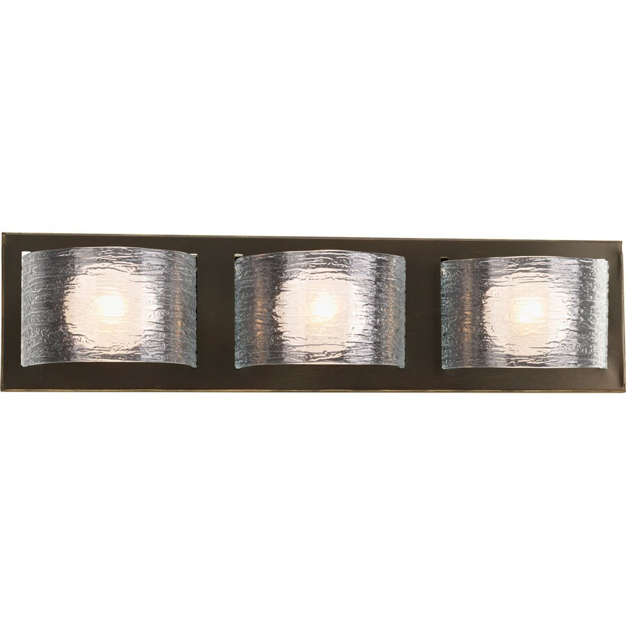 Progress Lighting Reign 3-Light 5.5-in Antique Bronze Rectangle Vanity Light