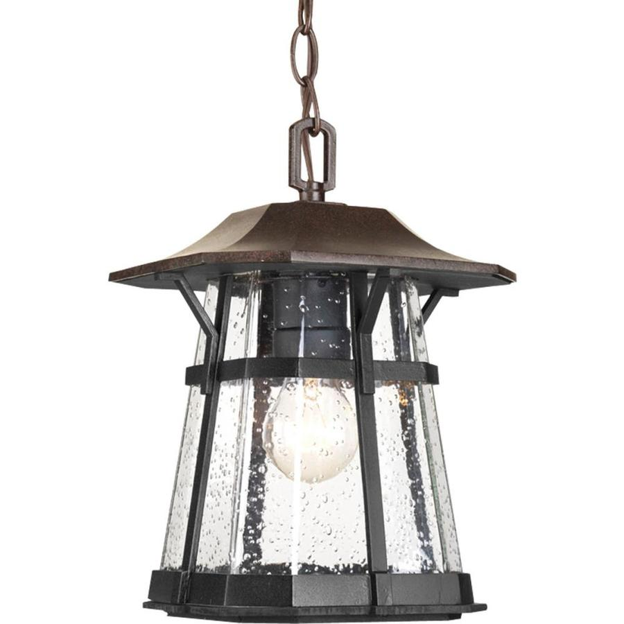 Progress Lighting Derby 12-in Espresso Outdoor Pendant Light