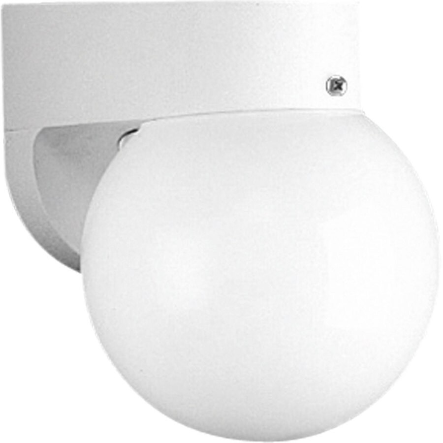Progress Lighting 7.75-in H White Outdoor Wall Light ENERGY STAR