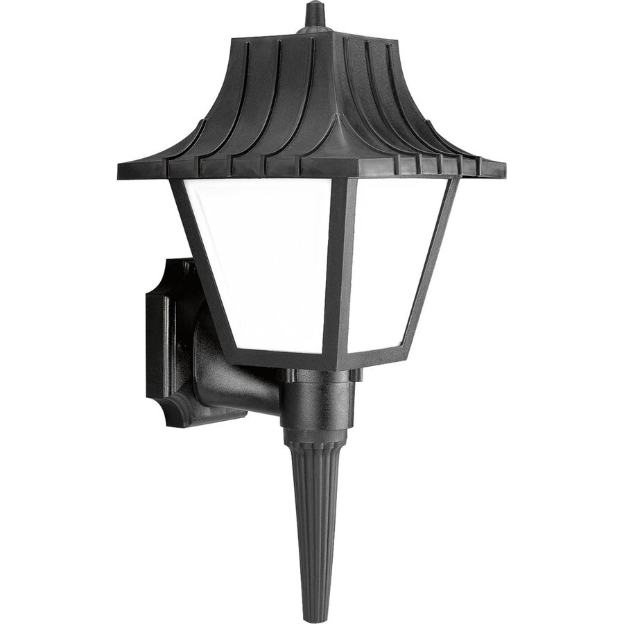Progress Lighting Mansard 17.62-in H Black Outdoor Wall Light ENERGY STAR