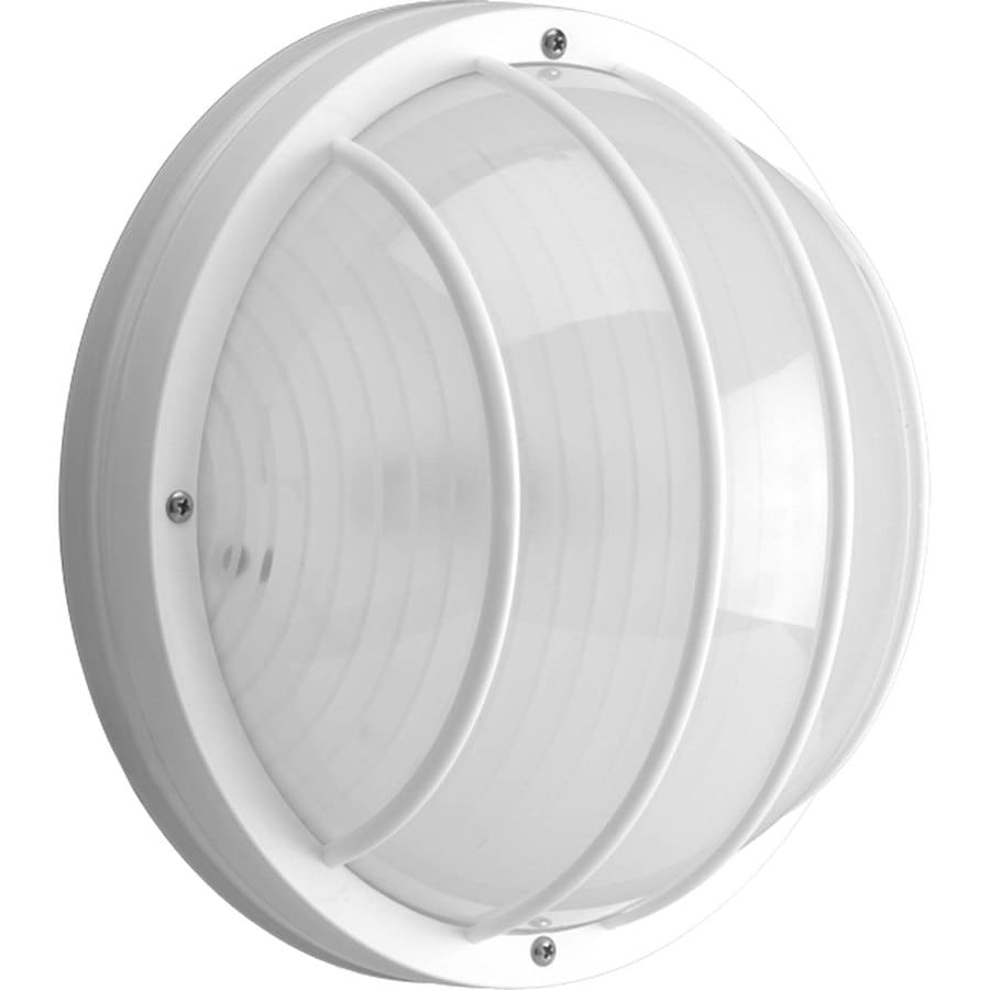 Progress Lighting Polycarbonate 5.12-in H White Outdoor Wall Light ENERGY STAR