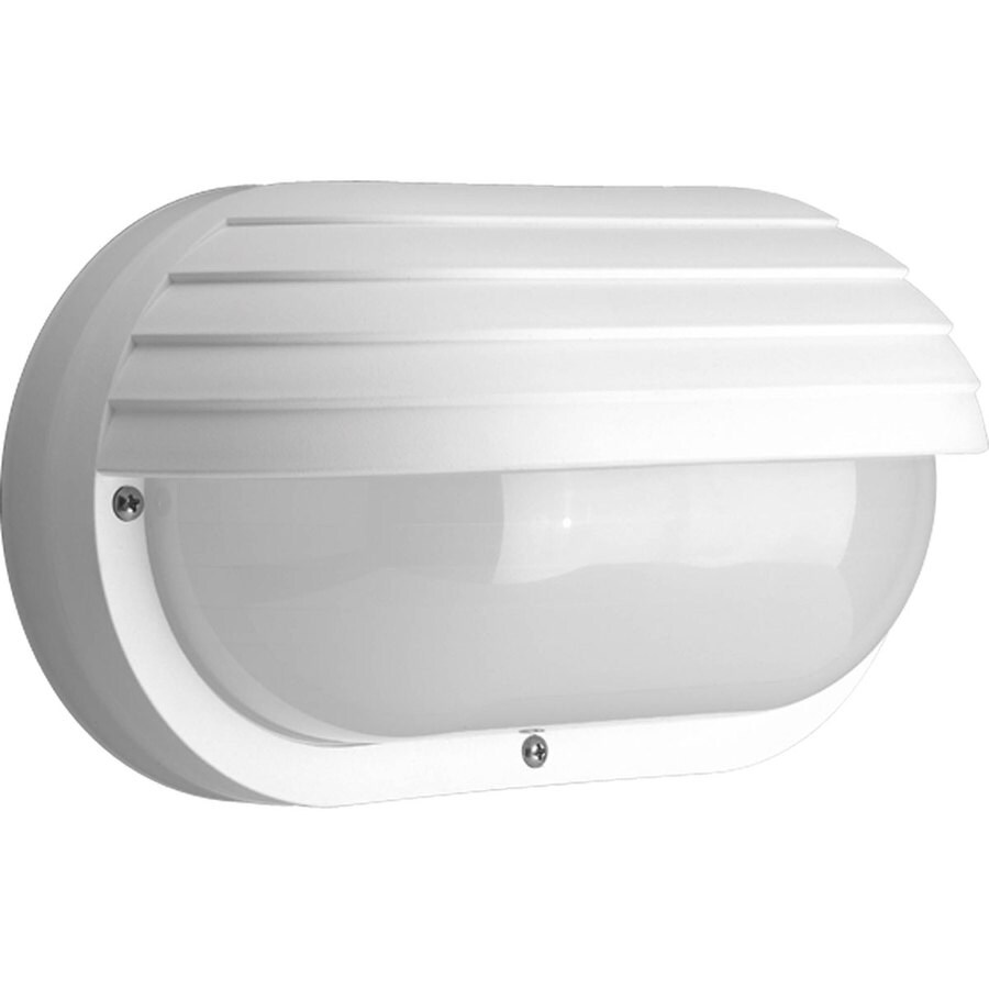 Progress Lighting Polycarbonate 10.62-in H White Outdoor Wall Light ENERGY STAR