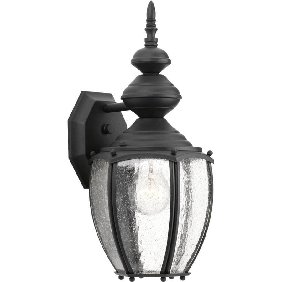 Progress Lighting Roman Coach 15.25-in H Black Outdoor Wall Light