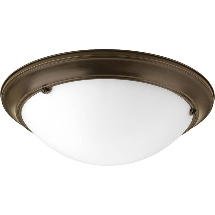 Progress Lighting Eclipse 19.375-in W Antique Bronze Flush Mount Light