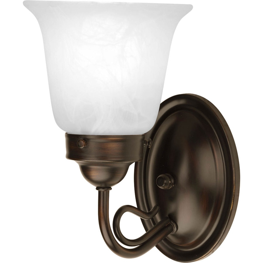 Progress Lighting Bedford 1-Light 8.5-in Antique Bronze Bell Vanity Light
