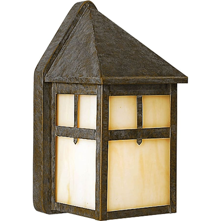 Progress Lighting Mission 8.5-in H Weathered Bronze Outdoor Wall Light