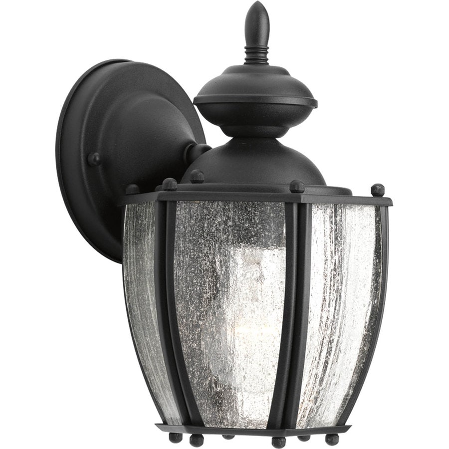 Progress Lighting Roman Coach 9.87-in H Black Outdoor Wall Light