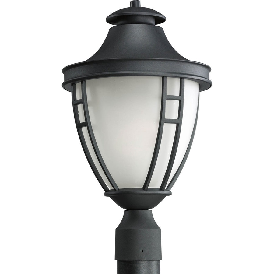 Progress Lighting Fairview 18.5-in H Black Post Light