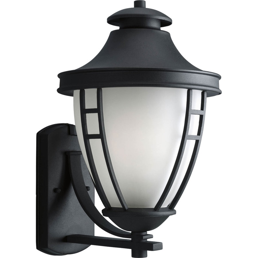 Progress Lighting Fairview 17.75-in H Black Outdoor Wall Light