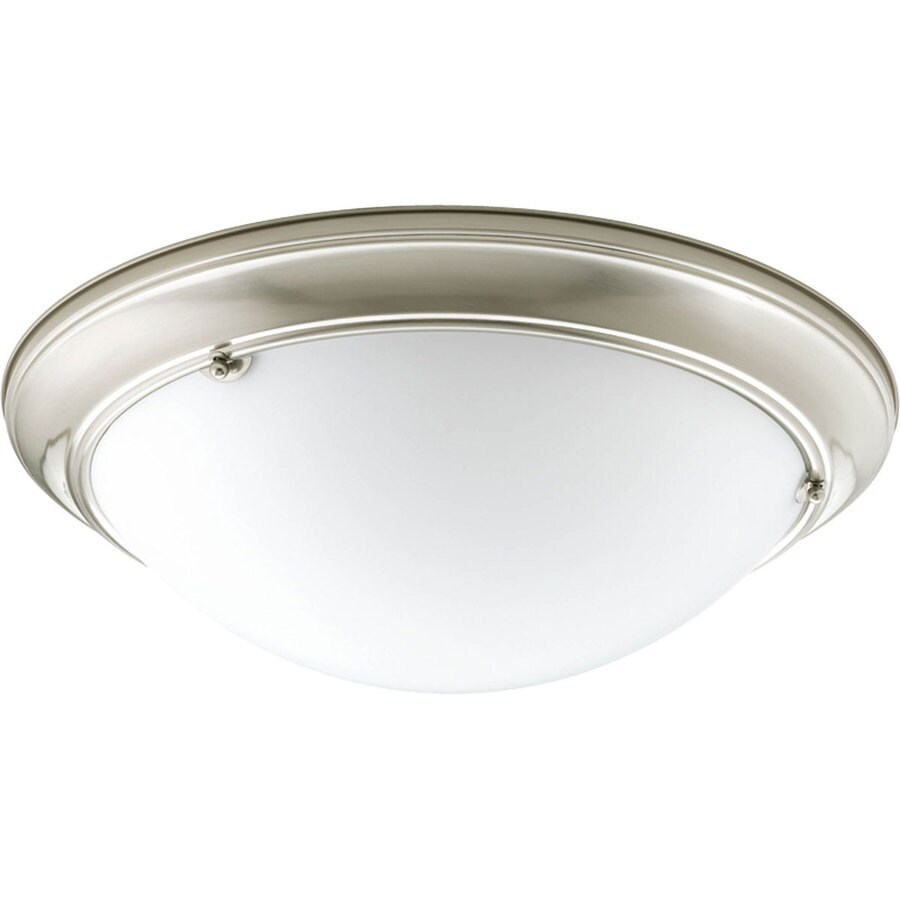 Progress Lighting Eclipse 19.375-in W Brushed Nickel Ceiling Flush Mount Light