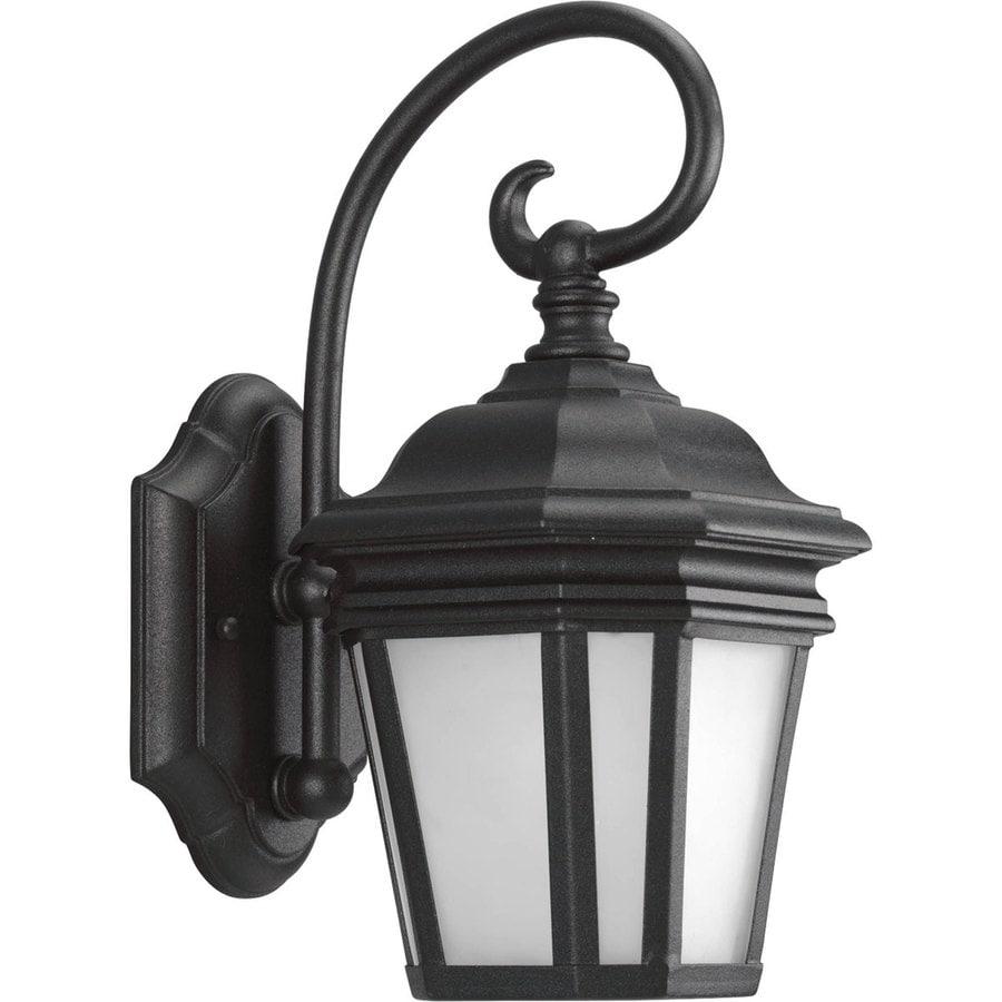 Progress Lighting Crawford 12.5-in H Black Outdoor Wall Light