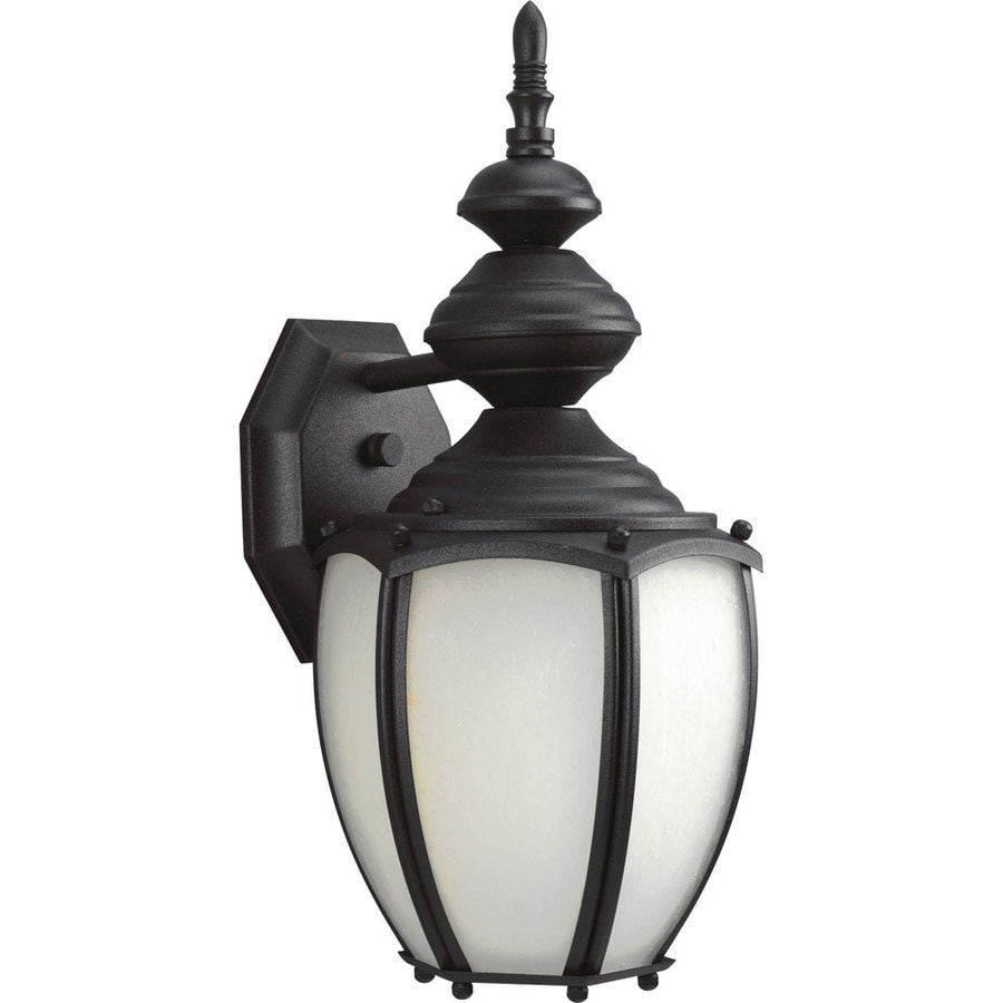 Progress Lighting Roman Coach 15.31-in H Black Outdoor Wall Light