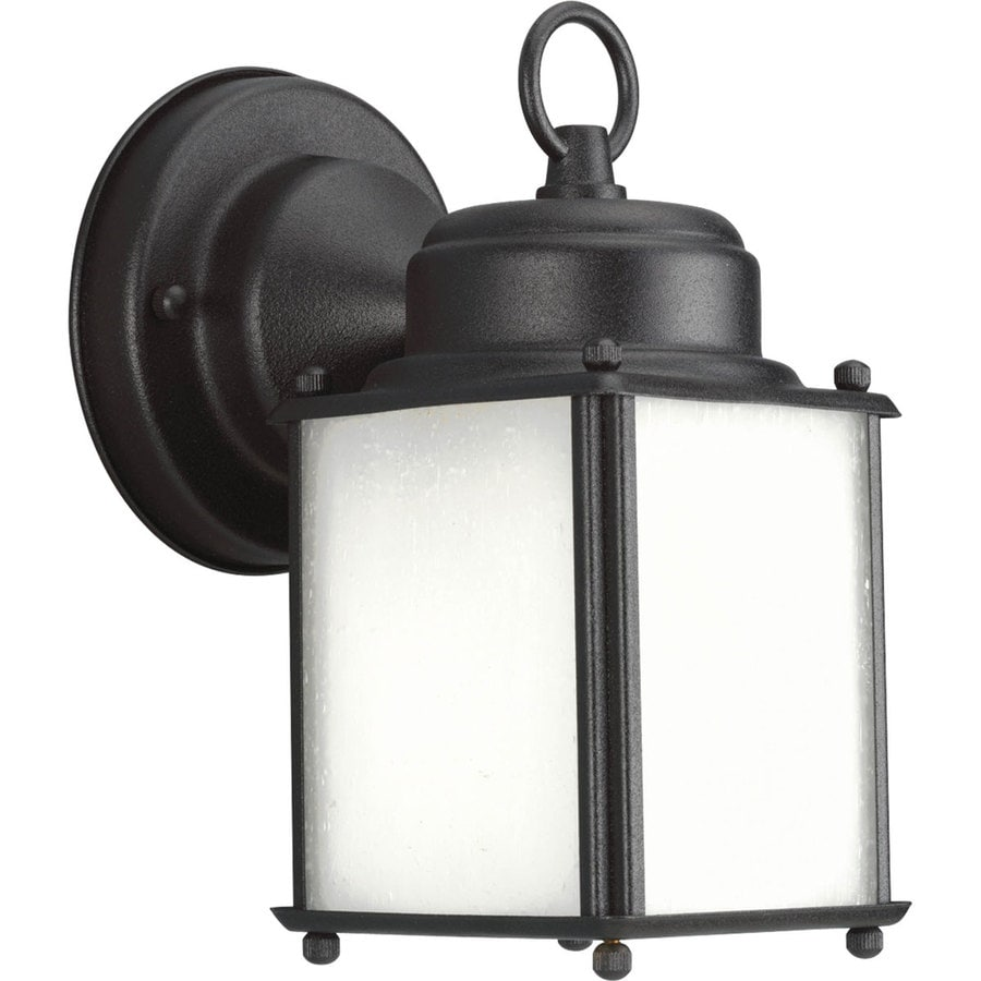 Progress Lighting Roman Coach 8.5-in H Black Outdoor Wall Light