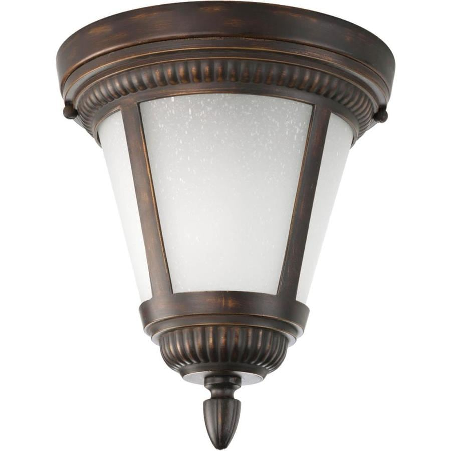 Progress Lighting Westport 9-in W Antique Bronze Outdoor Flush Mount Light