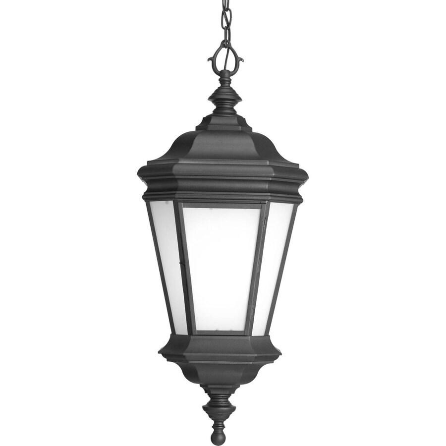 Progress Lighting Crawford 29.62-in Black Outdoor Pendant Light