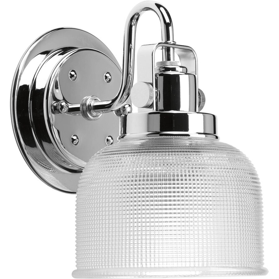 Progress Lighting Archie 1-Light 8.25-in Polished Chrome Bowl Vanity Light