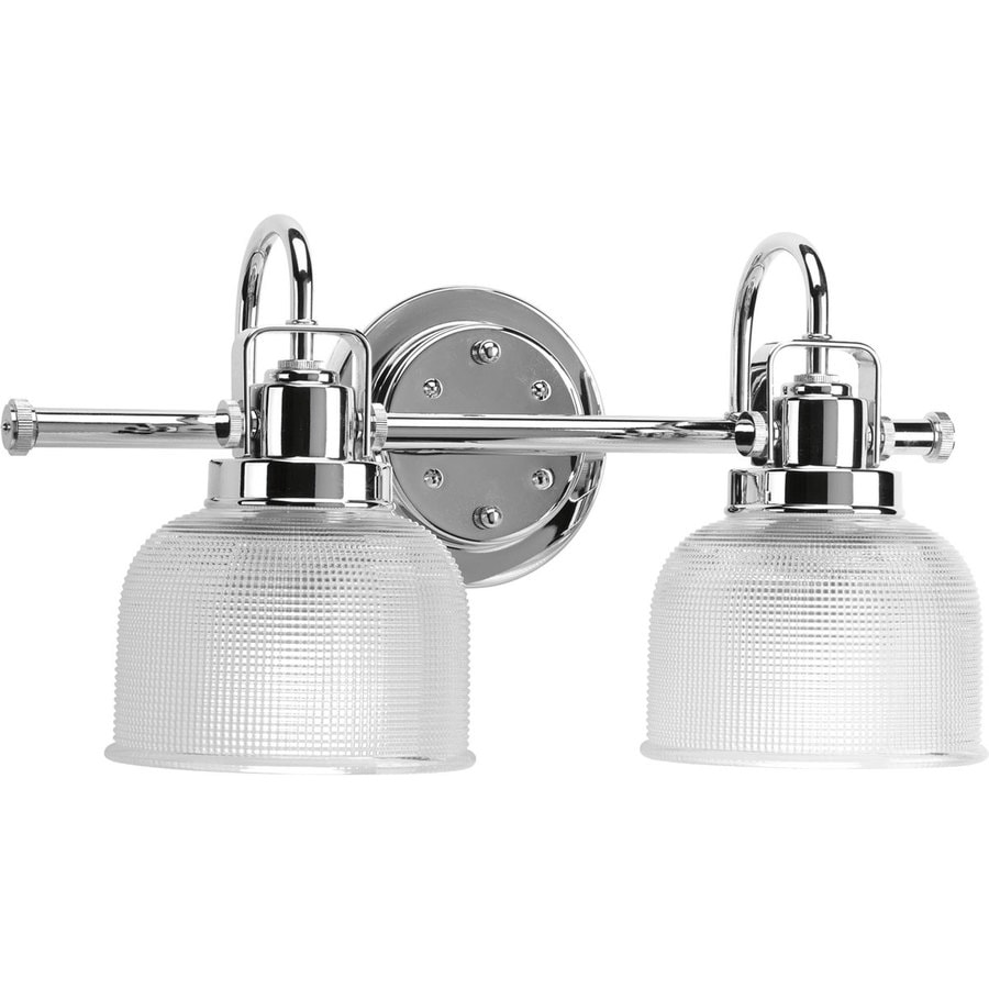 Shop progress lighting archie 2 light 17 in polished for Bathroom vanity fixtures