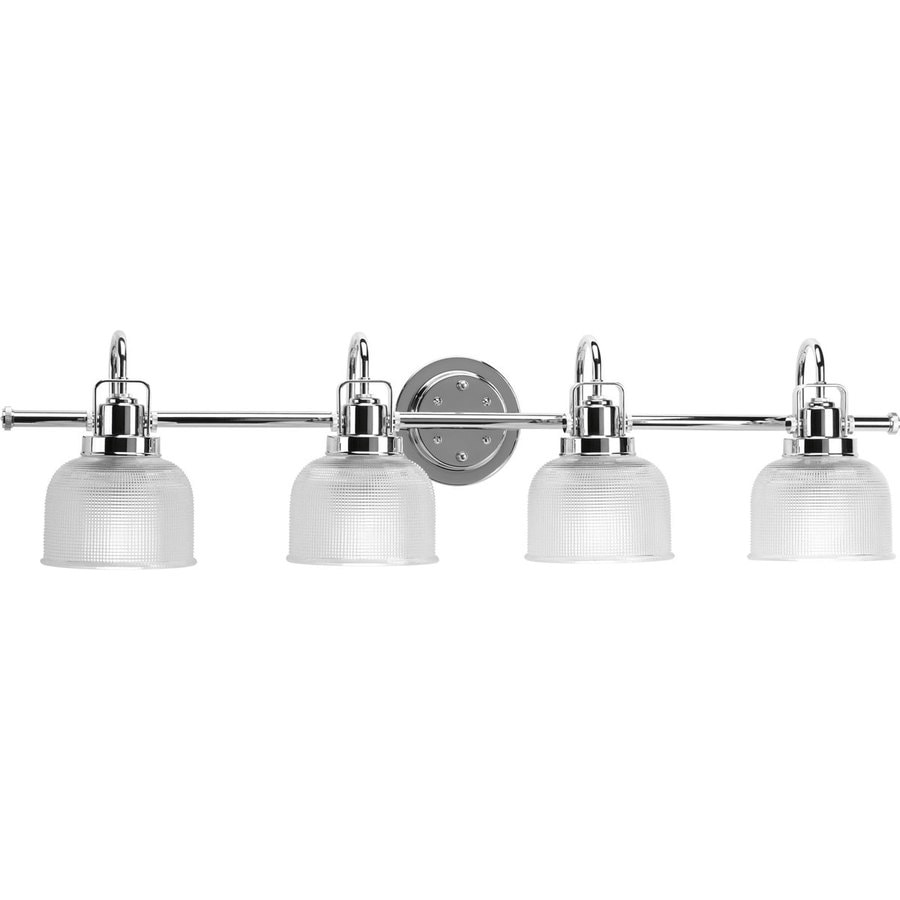 Shop progress lighting archie 4 light polished for 4 light bathroom fixture