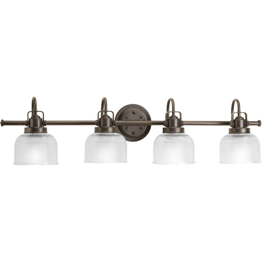 Shop Progress Lighting Archie 4-Light 8.688-in Venetian bronze Bowl Vanity Light at Lowes.com