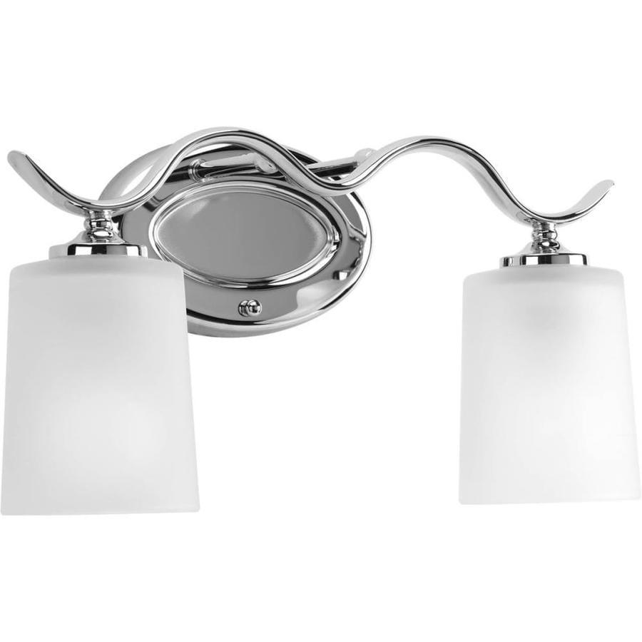 Progress Lighting Inspire 2-Light 8.5-in Polished Chrome Drum Vanity Light