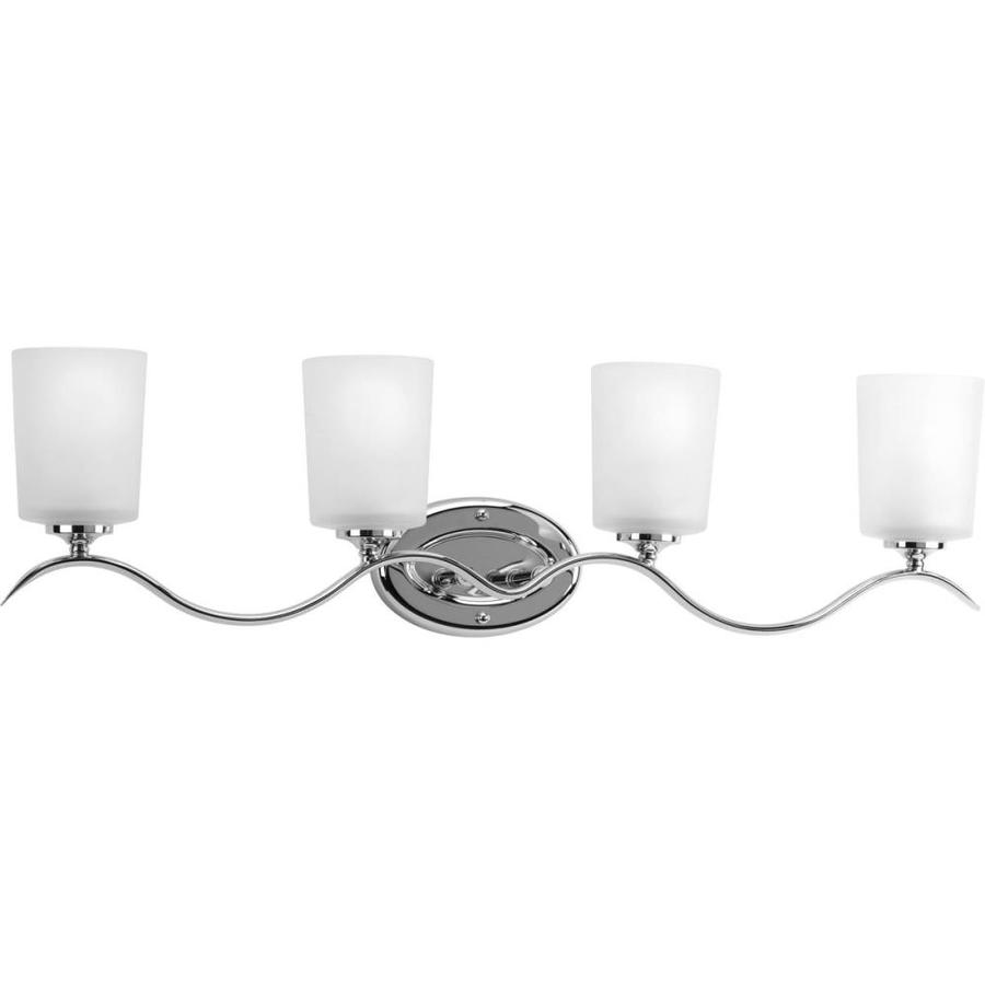 Progress Lighting Inspire 4-Light 8.5-in Polished Chrome Drum Vanity Light