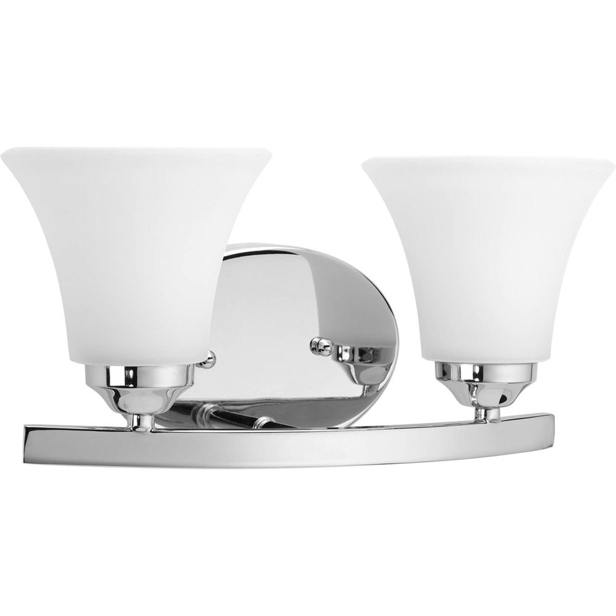 shop progress lighting adorn 2 light polished chrome bell vanity light at. Black Bedroom Furniture Sets. Home Design Ideas