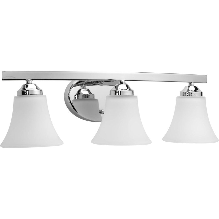 Shop Progress Lighting Adorn 3-Light 6.625-in Polished Chrome Bell Vanity Light at Lowes.com