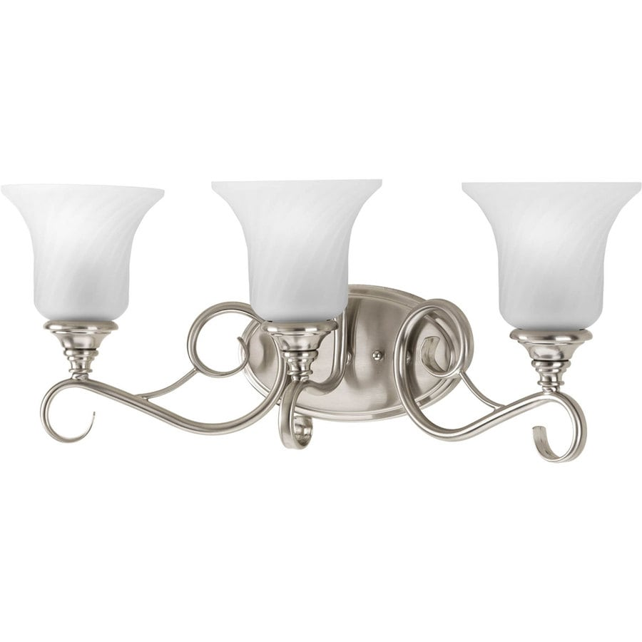 Shop Progress Lighting Kensington 3 Light 9 5 In Brushed Nickel Bell Vanity L