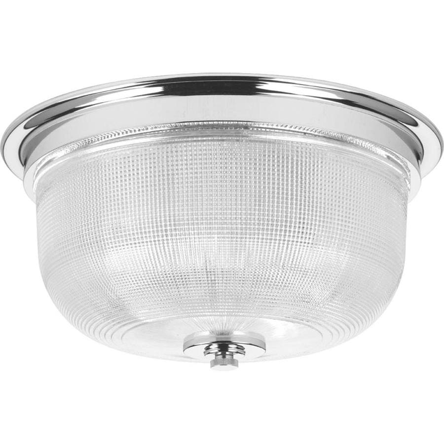 Progress Lighting Archie 12.313-in W Chrome Flush Mount Light