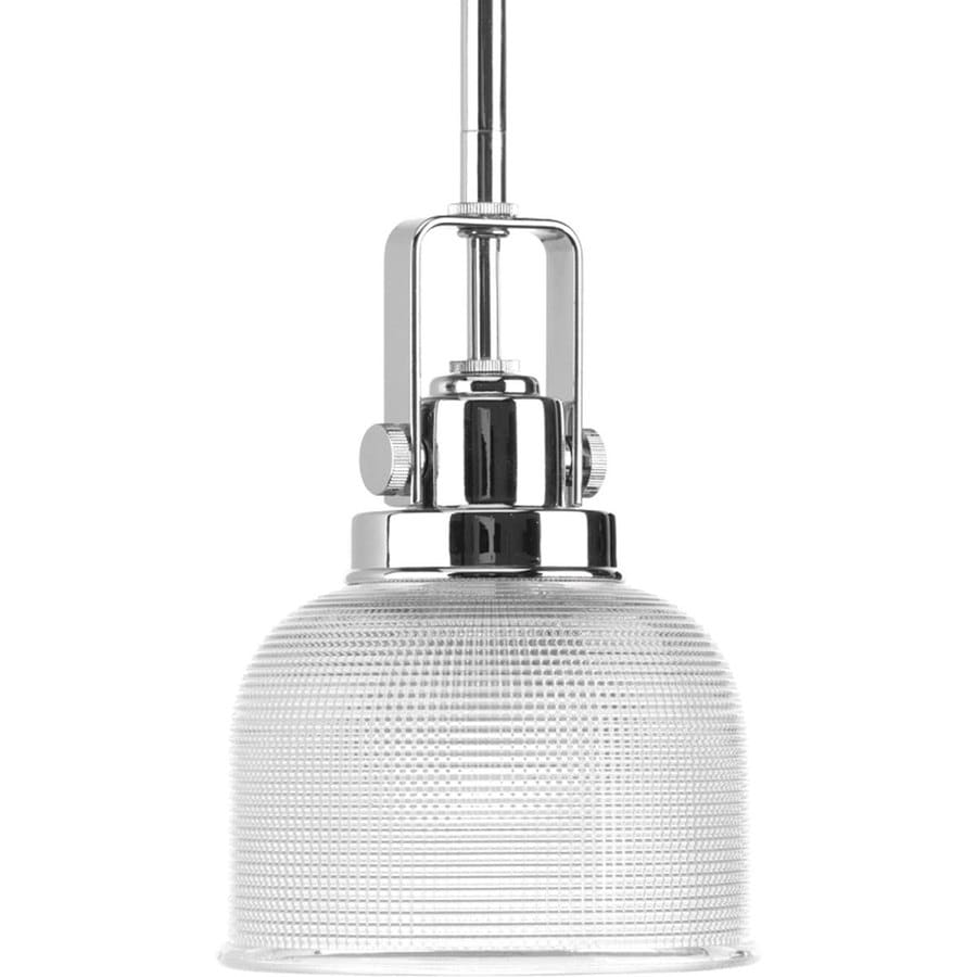 Shop Progress Lighting Archie Chrome Mini Clear Glass Dome Pendant At