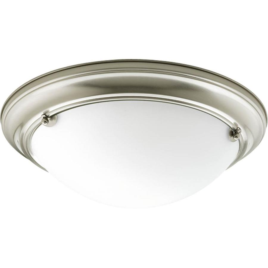 Progress Lighting Eclipse 15.25-in W Brushed nickel Flush Mount Light ENERGY STAR