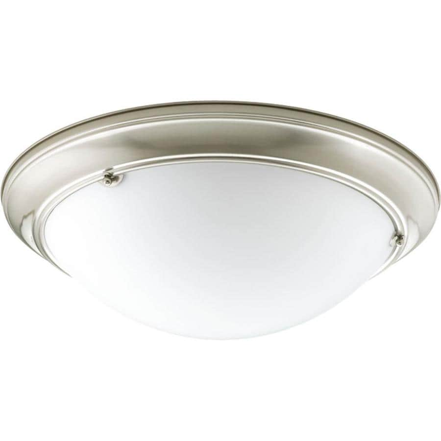 Progress Lighting Eclipse 19.375-in W Brushed nickel Flush Mount Light ENERGY STAR
