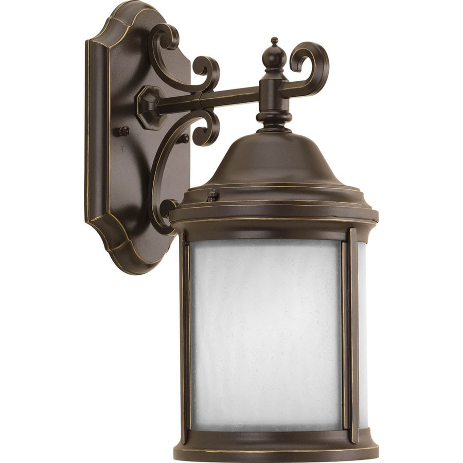 Progress Lighting Ashmore 14.5-in H Antique Bronze Outdoor Wall Light ENERGY STAR
