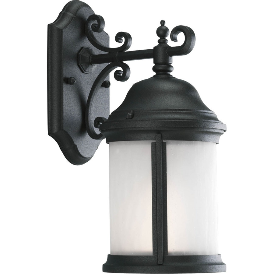 Progress Lighting Ashmore 14.87-in H Black Outdoor Wall Light ENERGY STAR