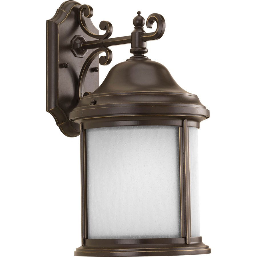 Shop Progress Lighting Ashmore 17 In H Antique Bronze Outdoor Wall Light ENER